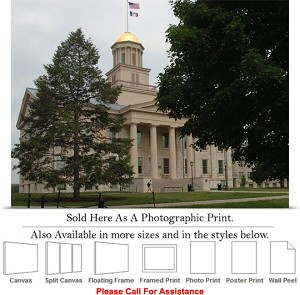 "University of Iowa Old Capitol Building Campus Photo Print 24"" x 18"""