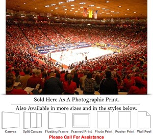 "University of New Mexico College Basketball Court Photo Print 24"" x 16"""