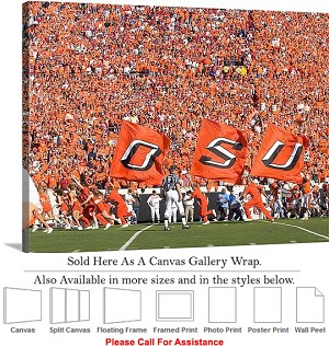 "Oklahoma State University Fans Pack Picken Stadium Canvas Wrap 30"" x 20"""