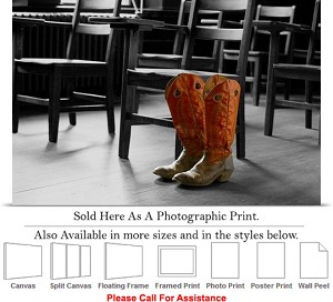 "Oklahoma State University Cowboy Boots in Class Photo Print 24"" x 16"""