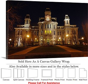 "Syracuse University College at Hall of Languages Canvas Wrap 30"" x 20"""