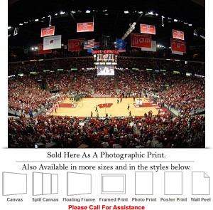 "University of Wisconsin Basketball at Kohl Center Photo Print 24"" x 16"""