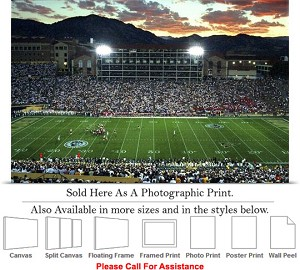 "University of Colorado Buffs Under the Lights Photo Print 24"" x 16"""