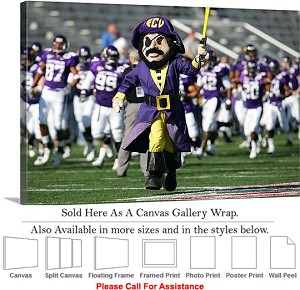 "East Carolina University Pee Dee Leads the Charge Canvas Wrap 30"" x 20"""