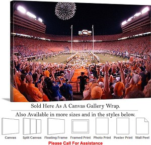 "University of Tennessee Campus at Neyland Stadium Canvas Wrap 30"" x 20"""