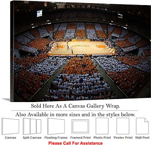"University of Tennessee College Basketball Court Canvas Wrap 30"" x 20"""