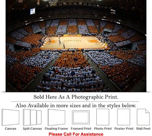 "University of Tennessee College Basketball Court Photo Print 24"" x 16"""