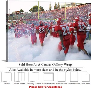 "Fresno State University College Football Players Canvas Wrap 30"" x 20"""