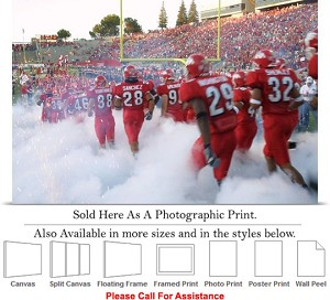 "Fresno State University College Football Players Photo Print 24"" x 16"""