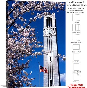 "North Carolina State University Campus Bell Tower Canvas Wrap 20"" x 30"""