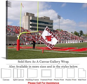 "University of Central Missouri Walton Stadium Canvas Wrap 30"" x 20"""