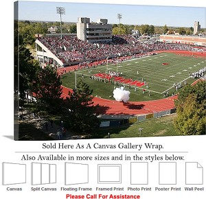 "University of Central Missouri at Walton Field Canvas Wrap 30"" x 20"""