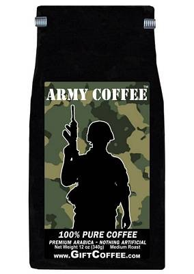 Army Gift Coffee, 12 Ounce Bag of Gourmet Coffee