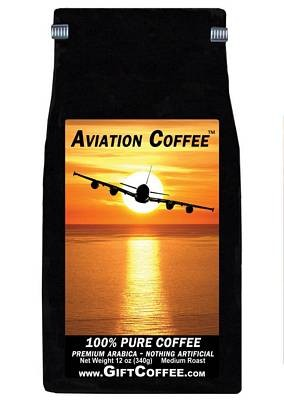 Aviation Gift Coffee,  12 Ounce Bag of Gourmet Coffee