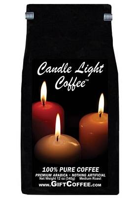 Candle Light Gift Coffee,  12 Ounce Bag of Gourmet Coffee