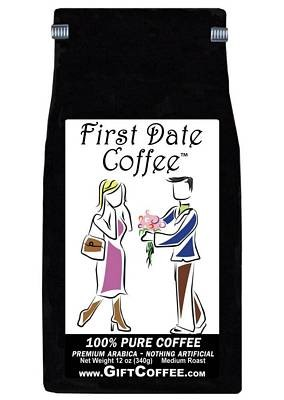 First Date Gift Coffee,  12 Ounce Bag of Gourmet Coffee