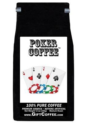 Poker Gift Coffee,   12 Ounce Bag of Gourmet Coffee