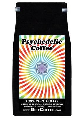Psychedelic Gift Coffee,  12 Ounce Bag of Gourmet Coffee