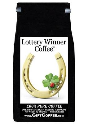 Lottery Winner Gift Coffee,  12 Ounce Bag of Gourmet Coffee