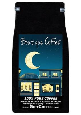Boutique Gift Coffee, 12 Ounce Bag of Gourmet Coffee
