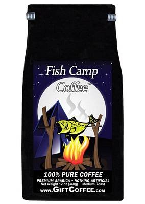 Fish Camp Gift Coffee, 12 Ounce Bag of Gourmet Coffee