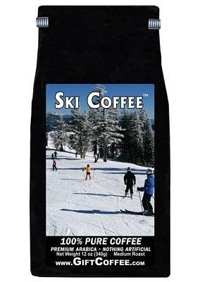 Ski Gift Coffee, 12 Ounce Bag of Gourmet Coffee