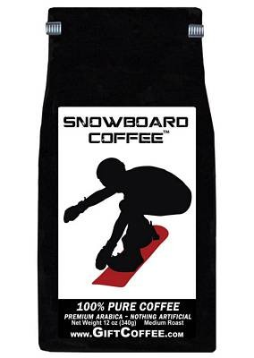 Snowboard Gift Coffee, 12 Ounce Bag of Gourmet Coffee