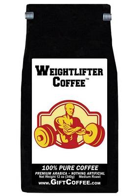 Weightlifter Gift Coffee, 12 Ounce Bag of Gourmet Coffee