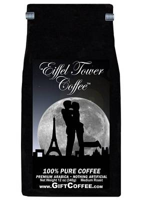 Eiffel Tower Gift Coffee, 12 Ounce Bag of Gourmet Coffee