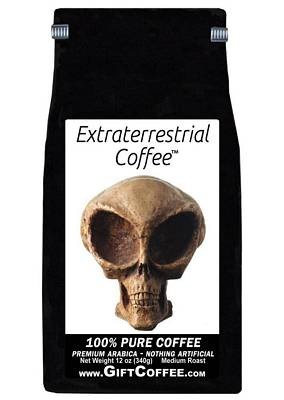 Extraterrestrial Gift Coffee, 12 Ounce Bag of Gourmet Coffee