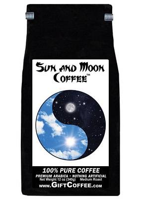 Sun and Moon Gift Coffee, 12 Ounce Bag of Gourmet Coffee