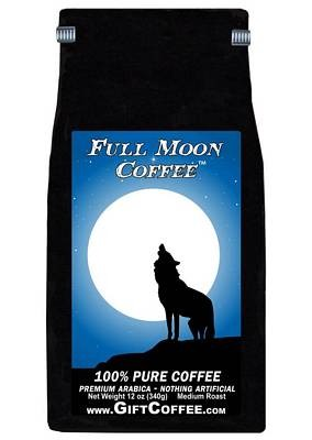 Full Moon Gift Coffee, 12 Ounce Bag of Gourmet Coffee
