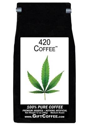 420 Gift Coffee, 12 Ounce Bag of Gourmet Coffee