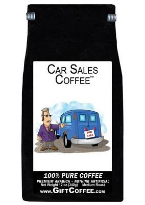 Car Sales Gift Coffee, 12 Ounce Bag of Gourmet Coffee