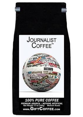 Journalist Gift Coffee, 12 Ounce Bag of Gourmet Coffee