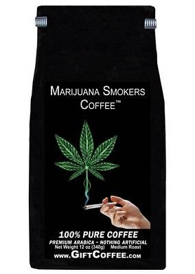 Marijuana Smokers Gift Coffee, 12 Ounce Bag of Gourmet Coffee
