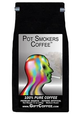 Pot Smokers Gift Coffee, 12 Ounce Bag of Gourmet Coffee