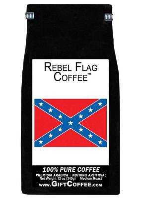 Rebel Flag Gift Coffee, 12 Ounce Bag of Gourmet Coffee