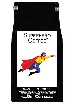 Superhero Gift Coffee, 12 Ounce Bag of Gourmet Coffee