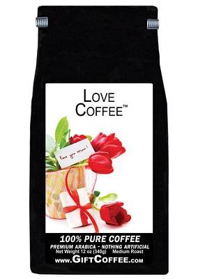Love Gift Coffee, 12 Ounce Bag of Gourmet Coffee
