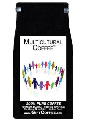Multicultural Gift Coffee, 12 Ounce Bag of Gourmet Coffee