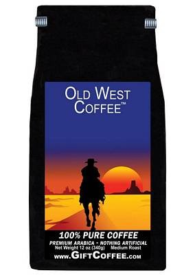 Old West Gift Coffee, 12 Ounce Bag of Gourmet Coffee