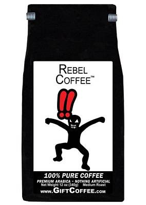 Rebel Gift Coffee, 12 Ounce Bag of Gourmet Coffee
