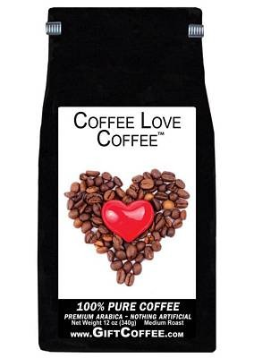 Coffee Love Gift Coffee, 12 Ounce Bag of Gourmet Coffee