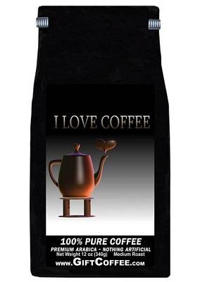 I love Coffee Gift Coffee, 12 Ounce Bag of Gourmet Coffee