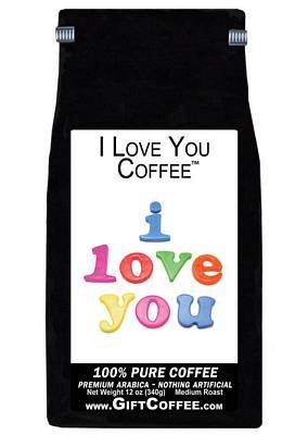 I Love You Gift Coffee, 12 Ounce Bag of Gourmet Coffee