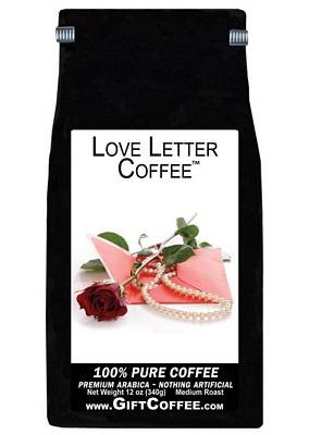 Love Letter Gift Coffee, 12 Ounce Bag of Gourmet Coffee