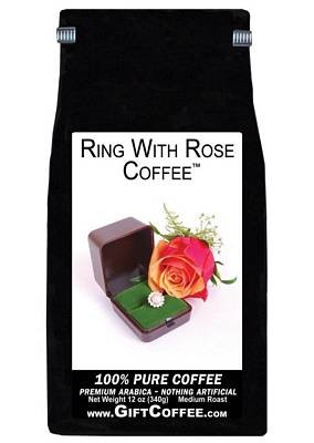 Ring With Rose Gift Coffee, 12 Ounce Bag of Gourmet Coffee