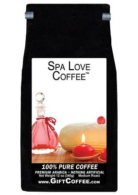 Spa Love Gift Coffee, 12 Ounce Bag of Gourmet Coffee