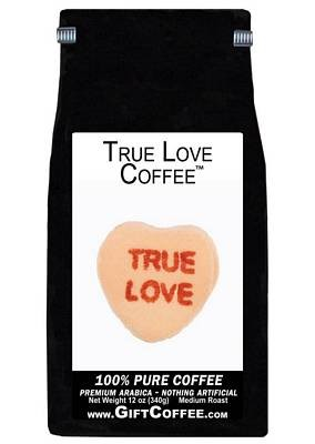 True Love Gift Coffee, 12 Ounce Bag of Gourmet Coffee